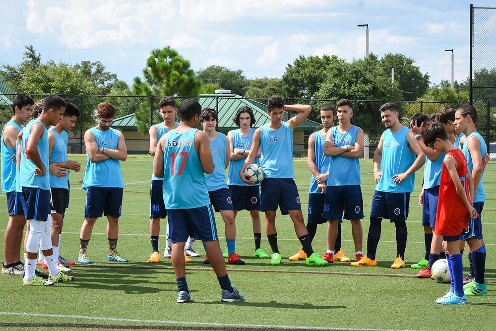 Treinamento da GO USA em Orlando, FL em preparação para a Disney Cup 2017