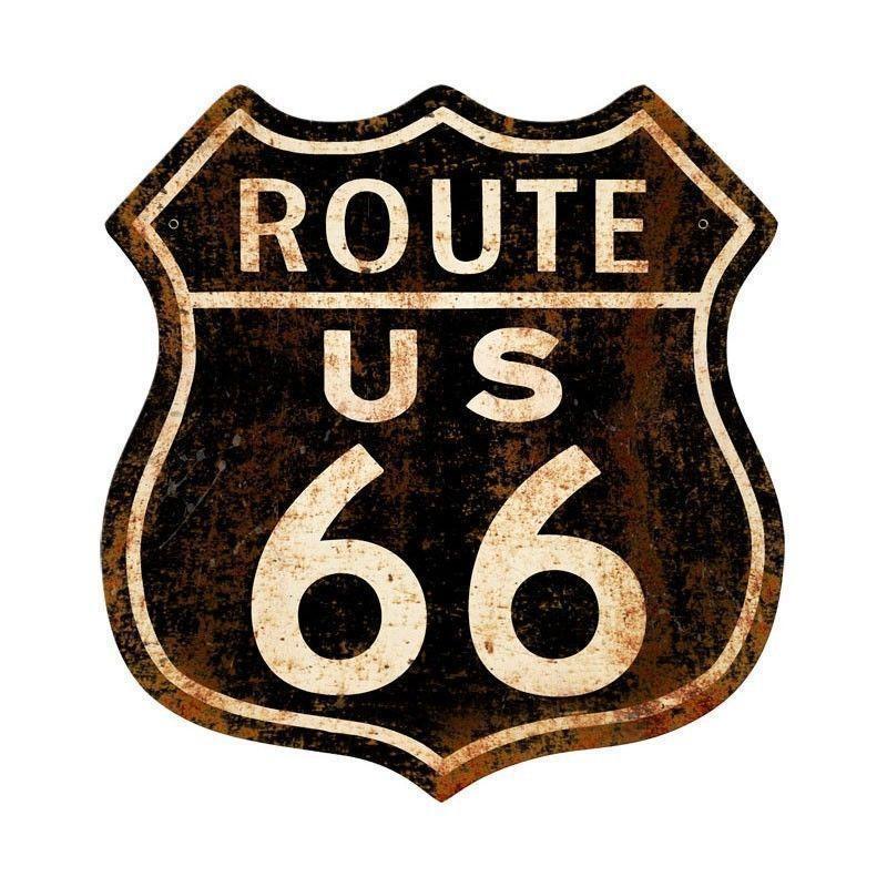Placa Rota 66: Destino certo para motoqueiros, estudantes e aventureiros em geral.