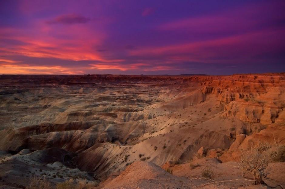 Deserto pintado. Uma das paisagens mais belas durante o trajeto por Arizona. Rota 66