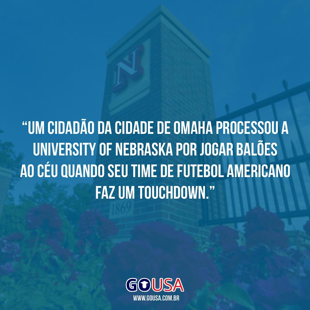 Já pensou em estudar na universidade de nebraska? Apenas tome cuidado ao jogar balões! Saiba mais!