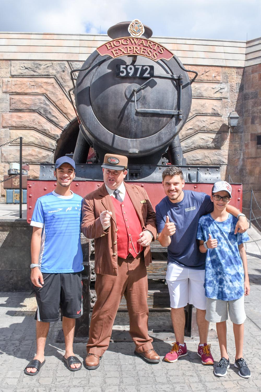 atletas GO USA na Universal Studios Harry Potter Disney Cup 2017