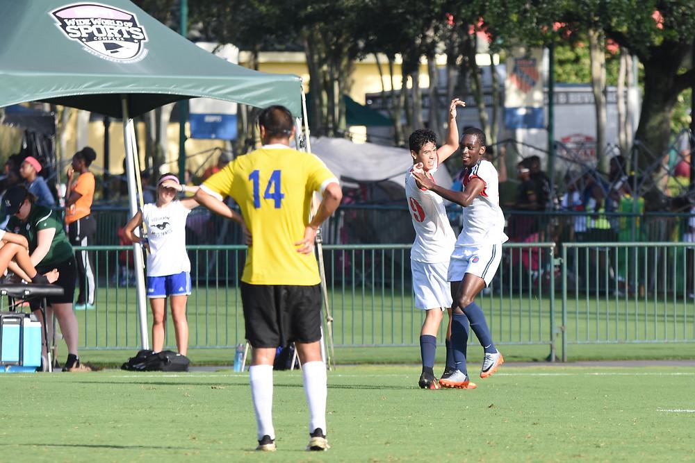 Comemoração gol Disney Cup 2017 GO USA contra Hunter's Creek