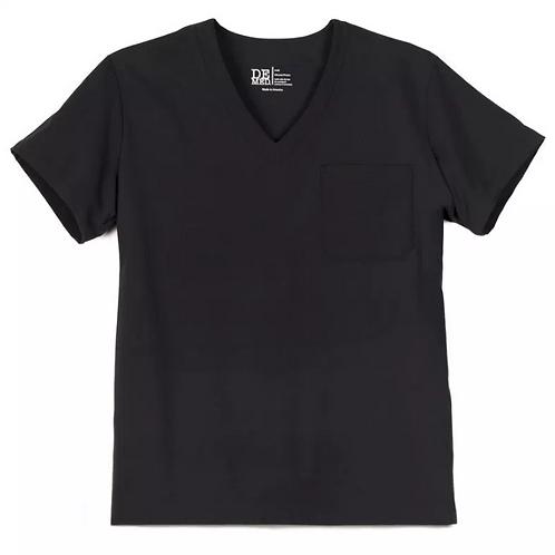 Unisex New Black V-Neck Top