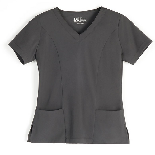 Women's Charcoal V-Neck Top
