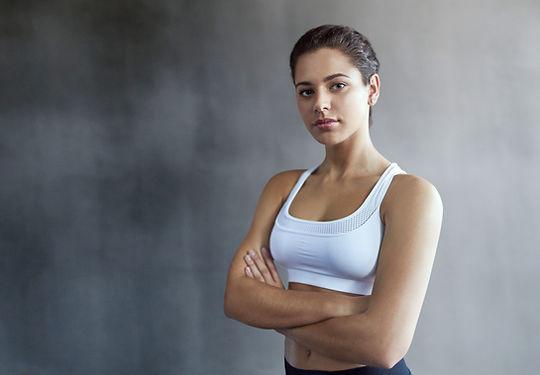 Mujer segura de forma