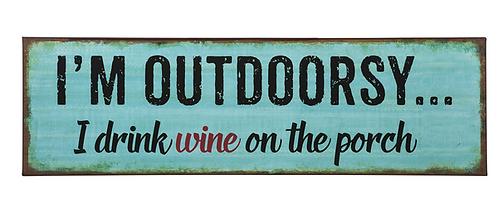 Outdoorsy Metal Sign