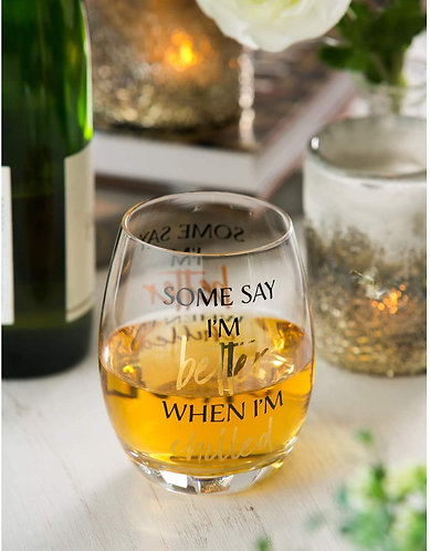 Better When Chilled Stemless Wine Glass