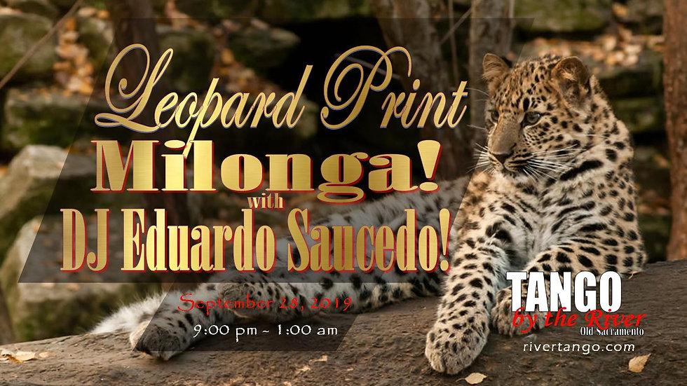Leopard Print Milonga ~ Sept 26, 2020