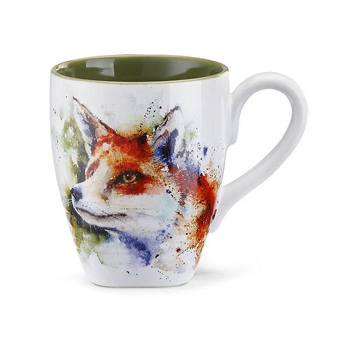 Curious Fox Stoneware Mug