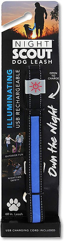 Night Scout Blue Illuminating dog leash