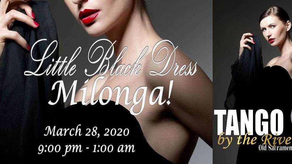 Little Black Dress Milonga ~ March 28, 2020