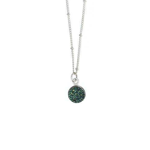Druzy Sterling Silver Necklace
