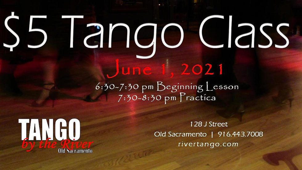 $5 Introductory Tango Class