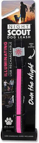 Night Scout Pink Illuminating dog leash