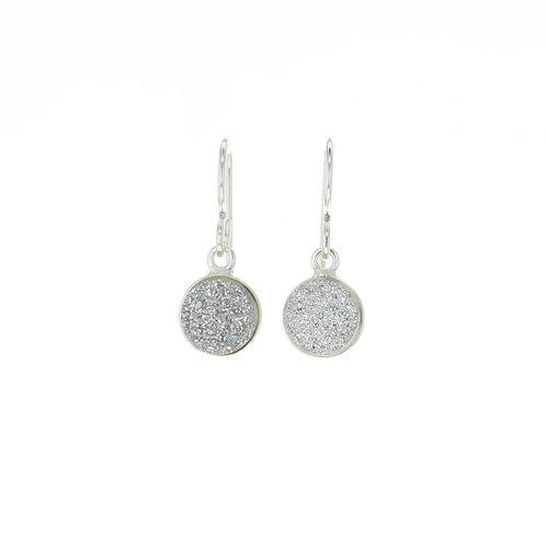 Druzy Sterling Silver Earrings