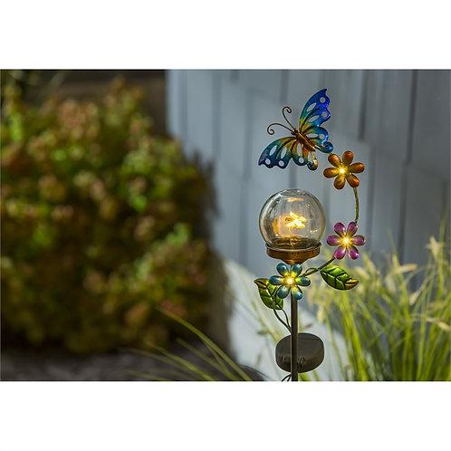 Hummingbird or Butterfly Flickering Solar Stake