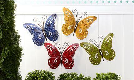Wrought Iron Butterfly Wall Art Garden Decor