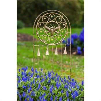 Bees and Bells Garden Stake