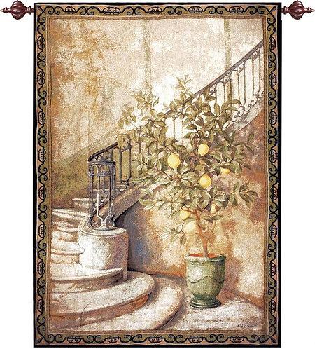 Lemon Stairwell Tapestry