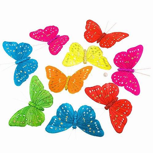 Rainbow Glitter Butterfly Garland