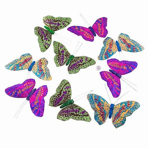 Multi-Glitter Butterfly Garland
