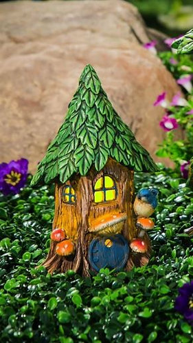 Forest Foliage LED Solar fairy house