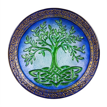Tree of Life Glass Bird Bath