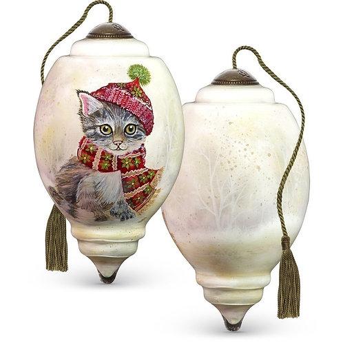 Winter Kitten Ornament