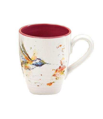 Hummingbird Stoneware Mug