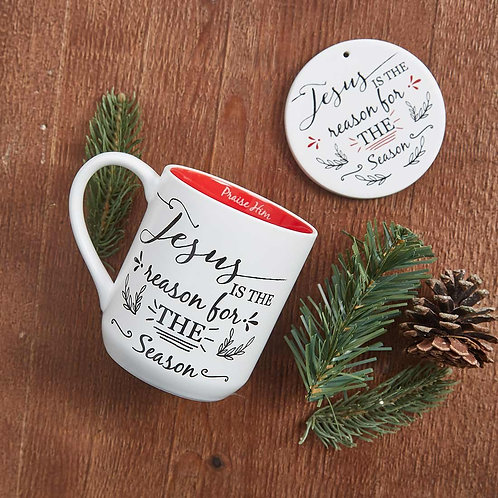 Jesus reason for season cup/coaster gift set