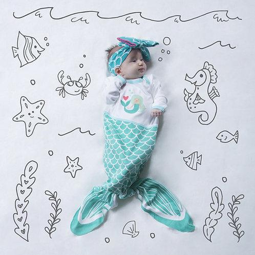 Seaform Mermaid Knotted Onesie