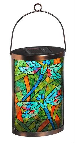 Tiffany inspired dragonfly Solar Lantern