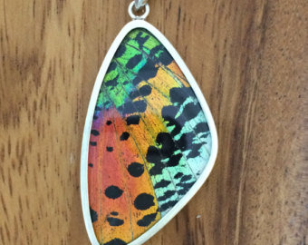 Sunset Butterfly Wing Pendant