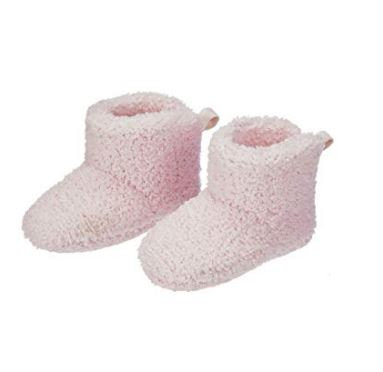 Pink Luxe Chenille Booties