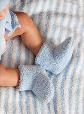 Blue Luxe Chenille Booties