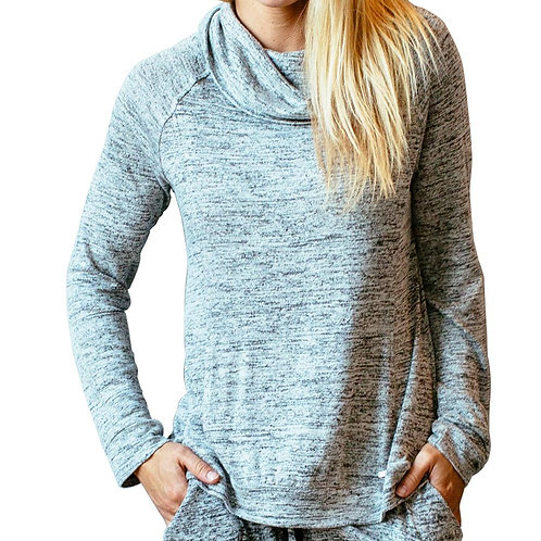 Gray Heather Lounge Top with pocket