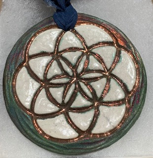 Raku Medallion - Lotus