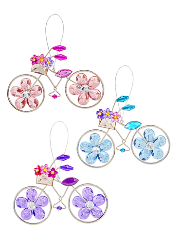 Spring Petal Bicycle Ornament
