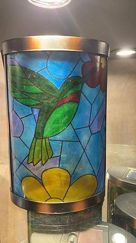 Tiffany inspired Hummingbird Solar Lantern