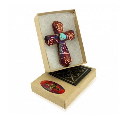Raku Sacred Cross Magnet