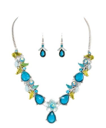 Flower Garden Necklace & Earring Set