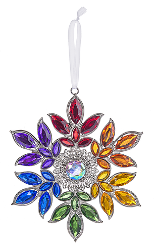 Rainbow Flower Ornament