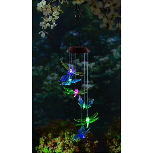 Butterfly & Dragonfly LED solar mobile