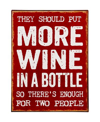 Enough Wine Metal Sign