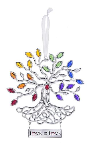 Rainbow Tree of Life Ornament