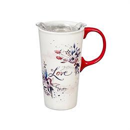 17oz Spread Love Ceramic Travel Mug