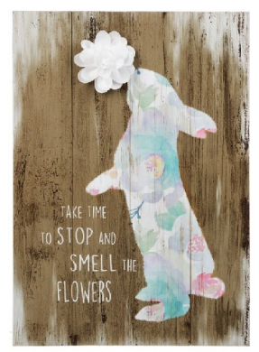 Smell the flowers wall art