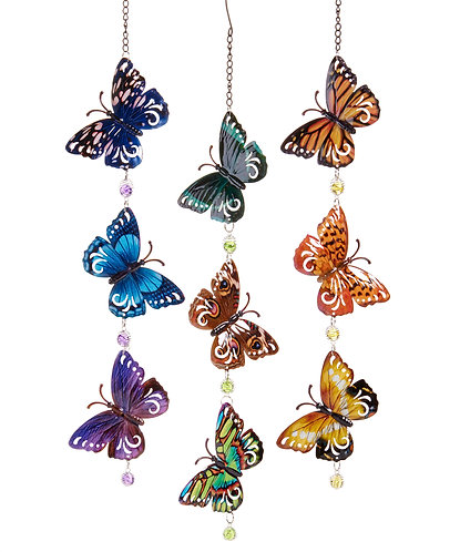 Diagonal angle triple butterfly mobile