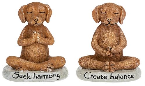 Zen dog figurine