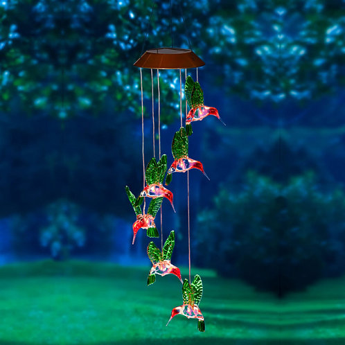 Hummingbird Color Changing Solar Mobile